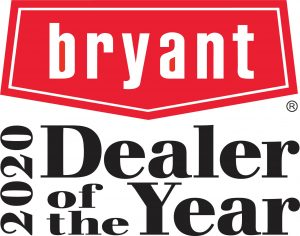 Bryant 2020 Dealer of the Year Award