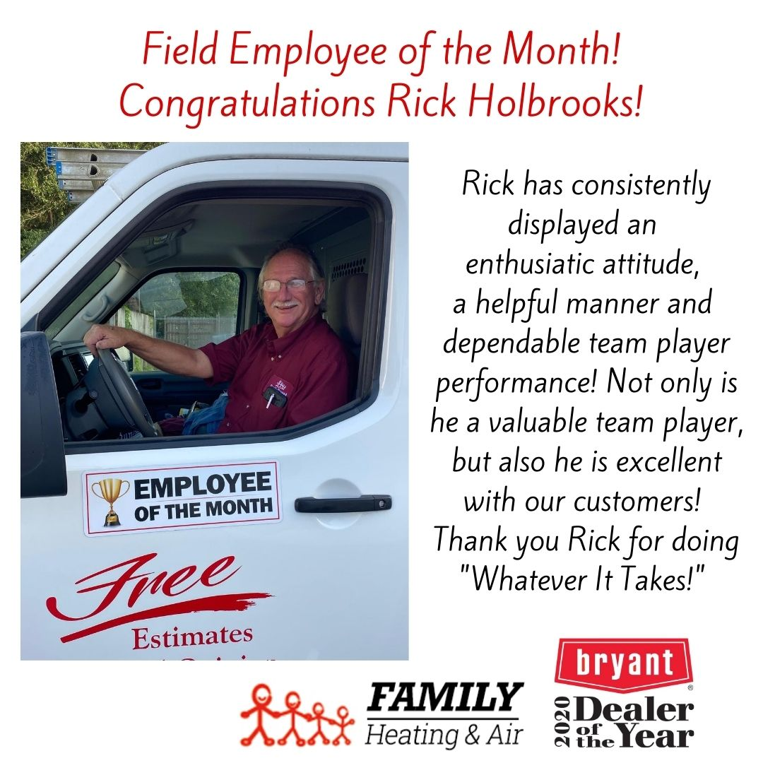 Field Employee of the Month! Congratulations Rick Holbrooks!
