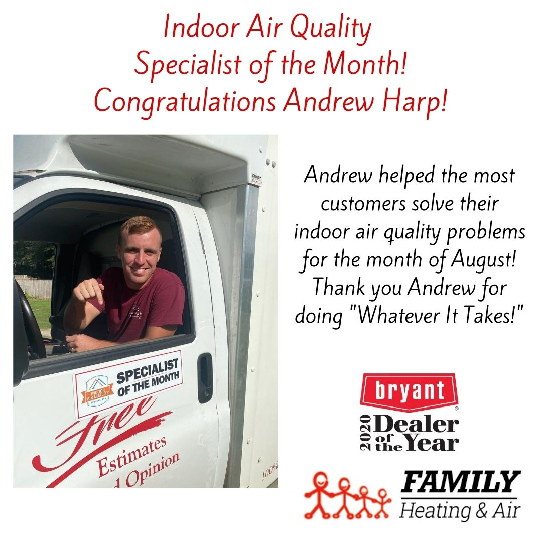 Indoor Air Quality Specialist of the Month!